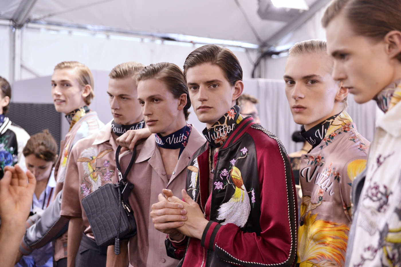 Backstage at the Louis Vuitton Menswear Spring Summer 2016 Show 18