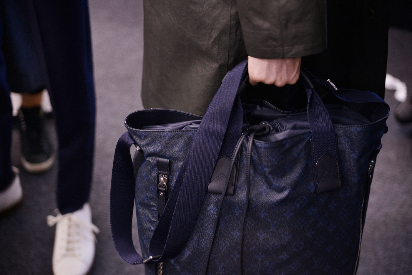 Backstage at the Louis Vuitton Menswear Spring Summer 2016 Show 37