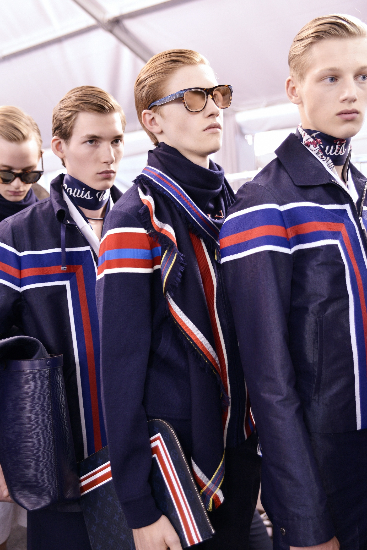 Backstage at the Louis Vuitton Menswear Spring Summer 2016 Show 4