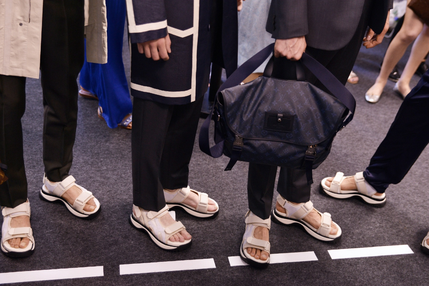 Backstage at the Louis Vuitton Menswear Spring Summer 2016 Show 40