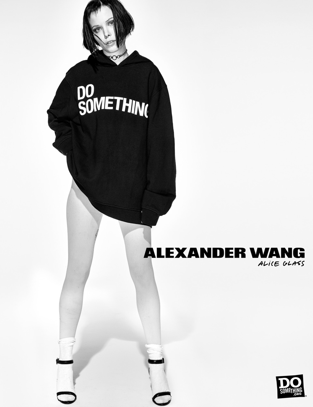 Alice Glass wears Alexander Wang x DoSomething