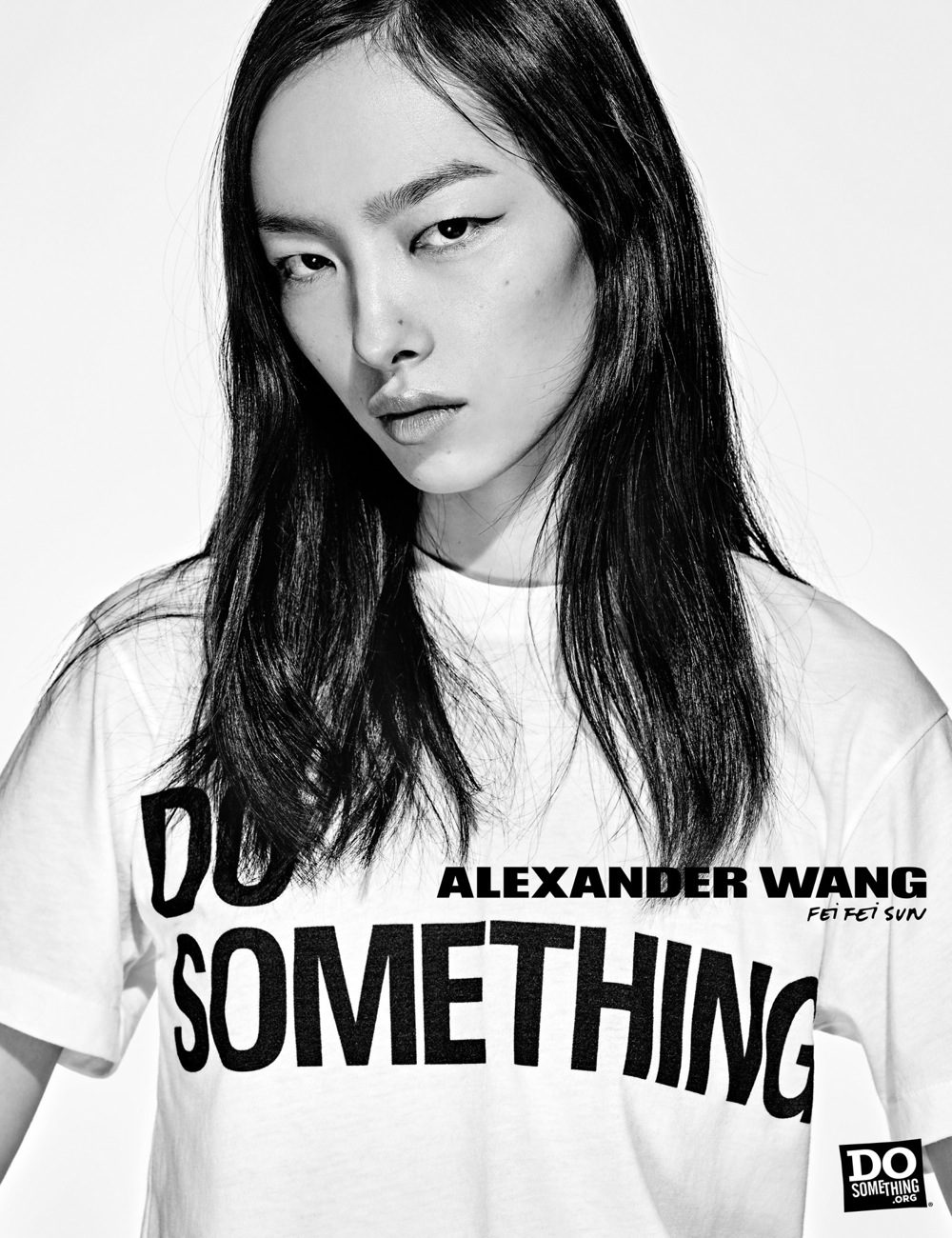 Fei Fei Sun wears Alexander Wang x DoSomething