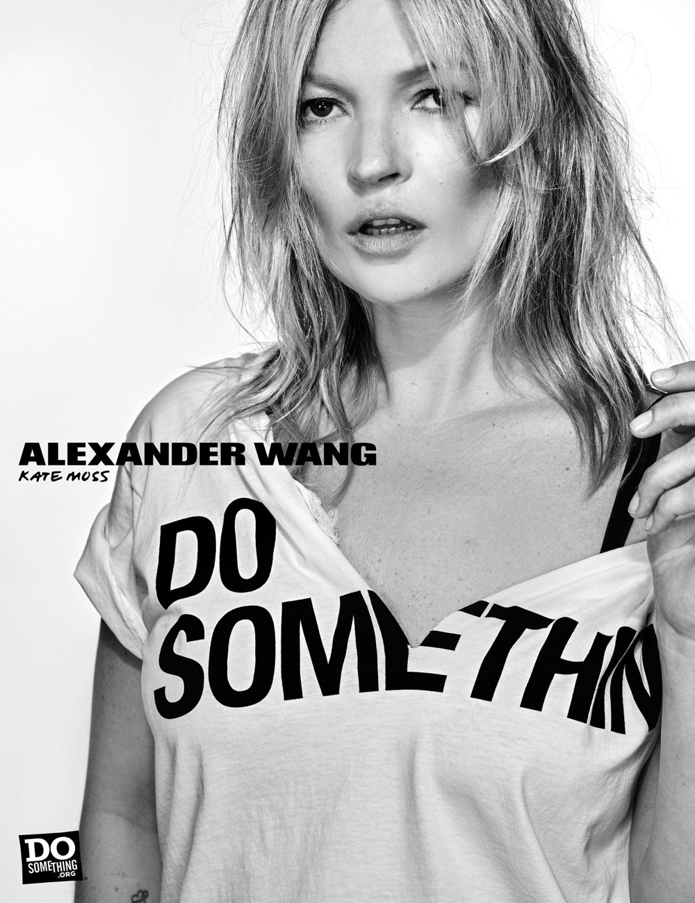 Kate Moss wears Alexander Wang x DoSomething