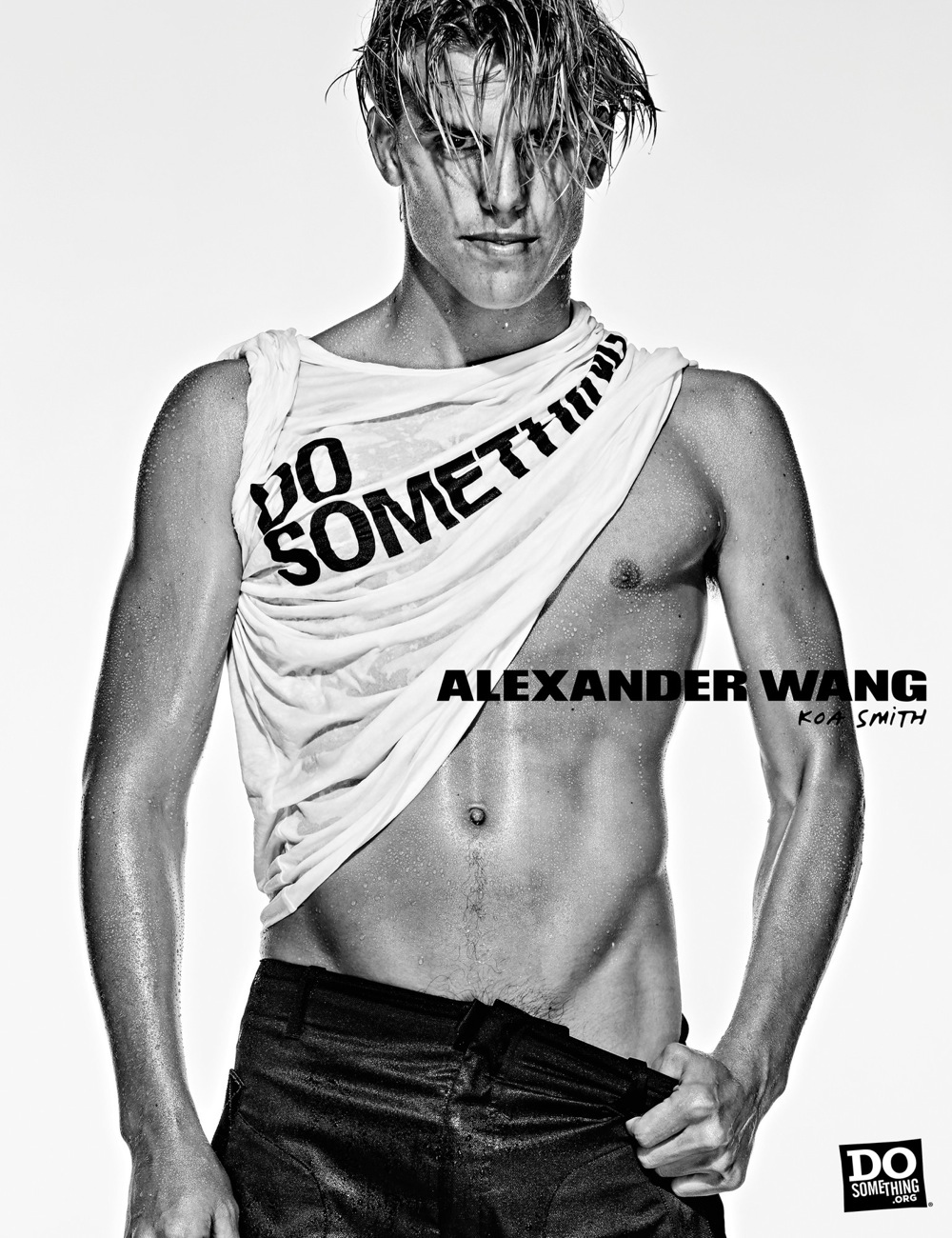 Koa Smith wears Alexander Wang x DoSomething