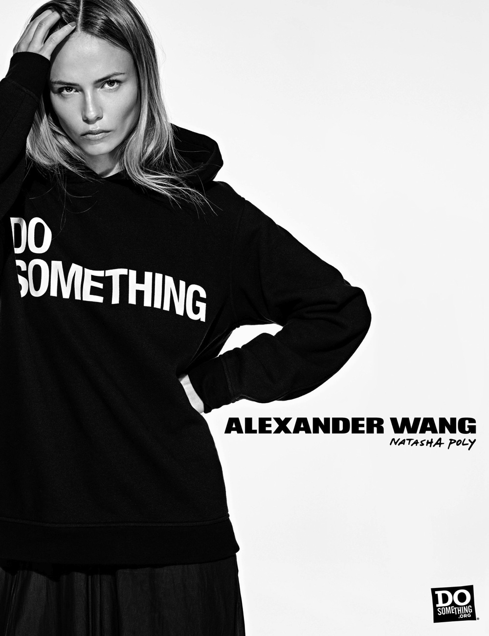 Natasha Poly wears Alexander Wang x DoSomething