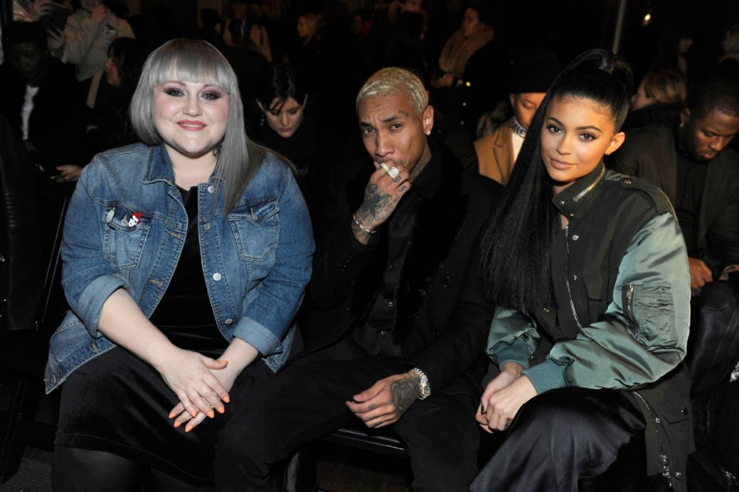 Beth Ditto, Tyga, Kylie Jenner at the Alexander Wang Fall Winter 2016 Show