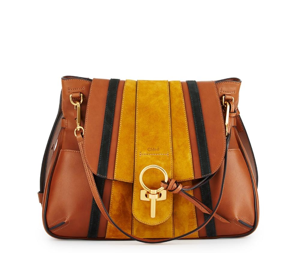 chloe-lexa-striped-medium-shoulder-bag