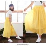 リネン調素材ミディ丈マキシスカート。安可愛いプチプラファッション神戸レタス2017春夏流行のトレンドアイテム