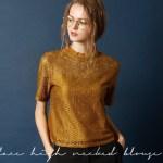 レースハイネックハーフスリーブブラウス。大人女子のプチプラキレイめファッションtitivate(ティティベイト)2017秋冬のトレンドアイテム
