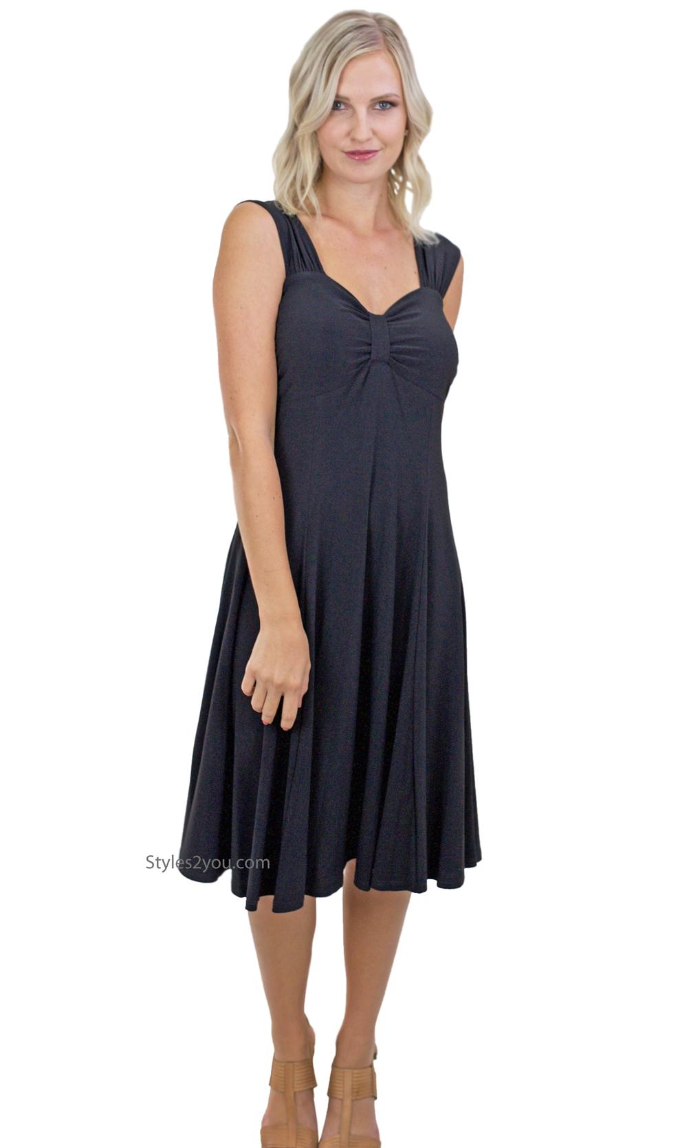 Victoria Ladies All Occasion Dress Black Pretty Woman