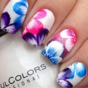 9 simple flower nail art design