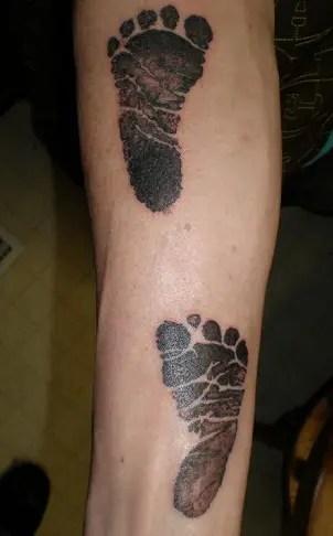 Buddha's Footprints Tattoo Design