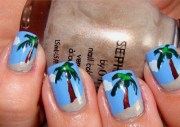 9 palm tree nail art design