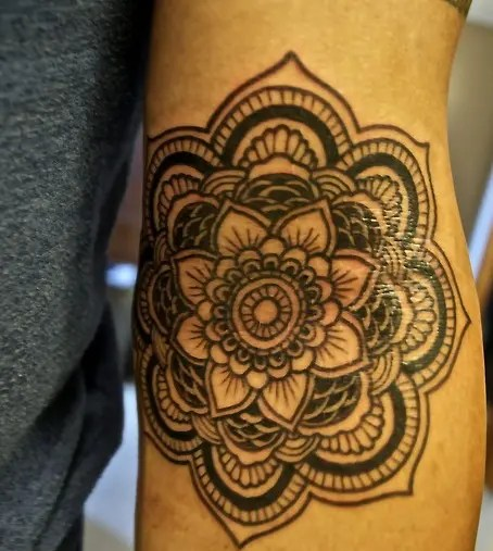 Mandala Wheel Tattoo Design