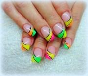 9 neon nail art design