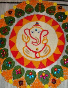 Styles at life also special lord ganapathi rangoli designs for festivals rh stylesatlife