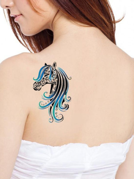 simple & traditional horse tattoo