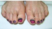 9 simple and easy toe nail art