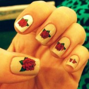 9 simple and easy rose nail art