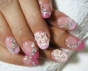 9 rhinestone nail art design