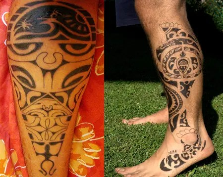 Leg Maori Tattoo Designs For Boys