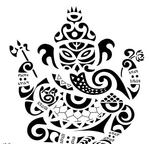 Tribal Ganesh Tattoo Designs