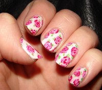 9 Simple and Easy Rose Nail Art Designs with Images ...