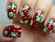 9 simple snowflake nail art design