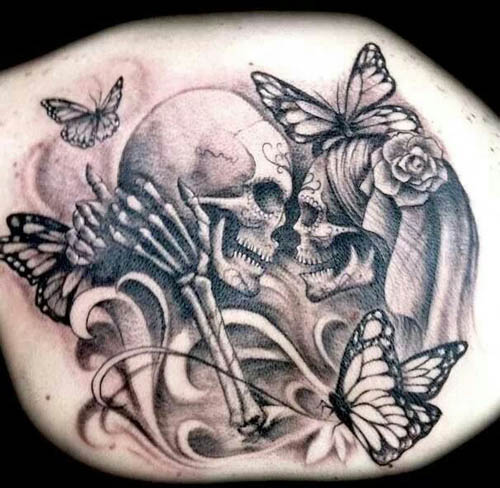 awesome and easy skull tattoo