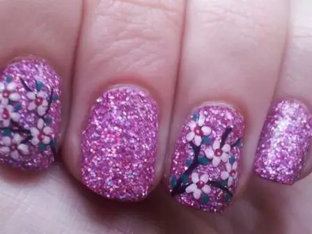Totally Glittered Cherry Blossom in Acrylic