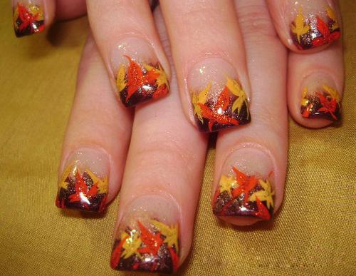 Image From Nailmagz Thanksgiving Nail Art