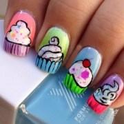 9 beautiful cupcake nail art design