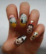 9 simple disney nail art design