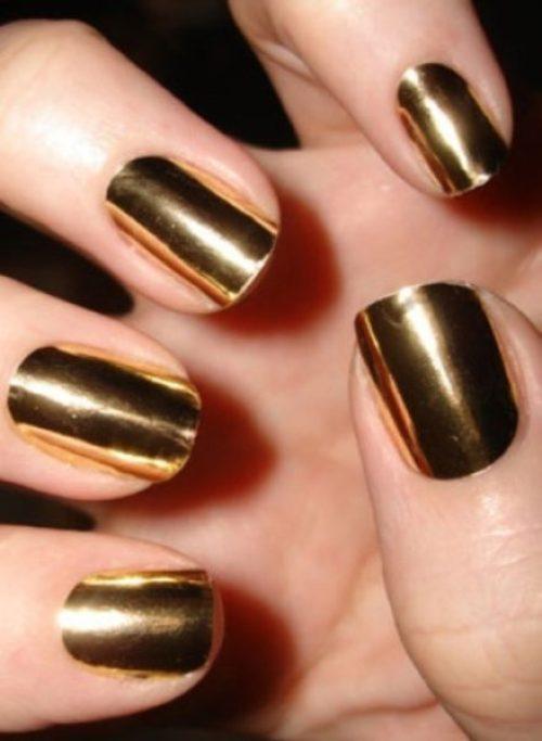 Golden Gliter Nail Art 31