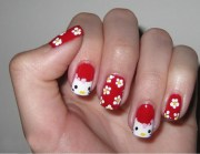 9 cute and easy kitty nail