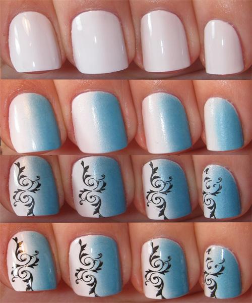 Sponge Manicure Nail Art Tutorial Summer Designs