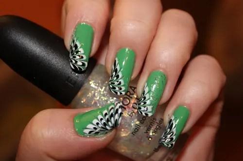 Beautiful Peacock Nail Art Designs 4
