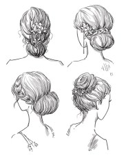 and simple bun hairstyles