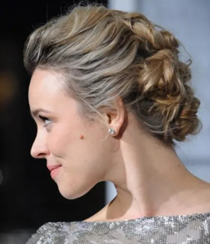 bun hairstyle for gown