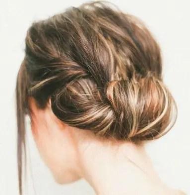 The Bun with Back Hair Roll
