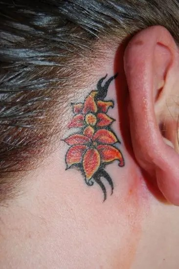 Ear Lily Tattoos