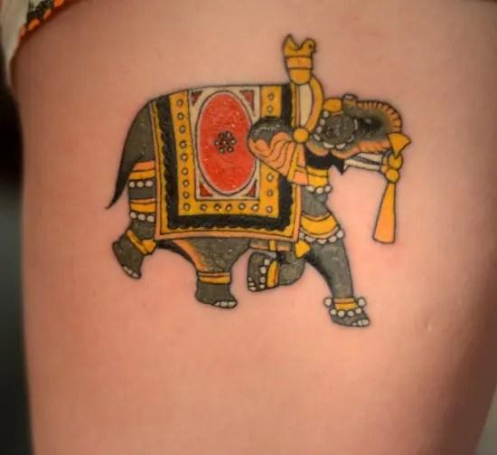 Divine Elephant Tattoo Design