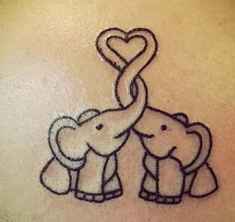 Mind-Blowing Baby Elephant Tattoo Design