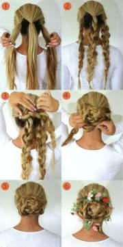 flower braid hairstyles