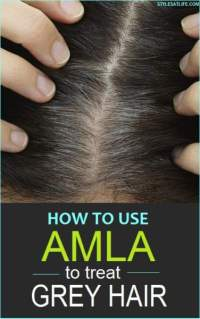 How to use amla to treat Grey hair?