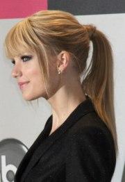 fashionable front bang hairstyles