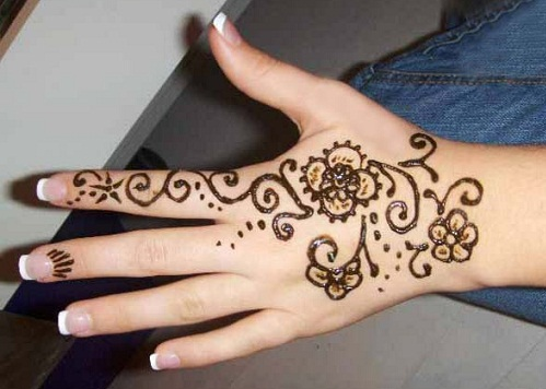 Easy Mehandi Designs Images For Hands