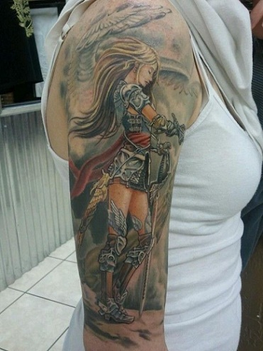 Forearm Warrior Tattoos For Men
