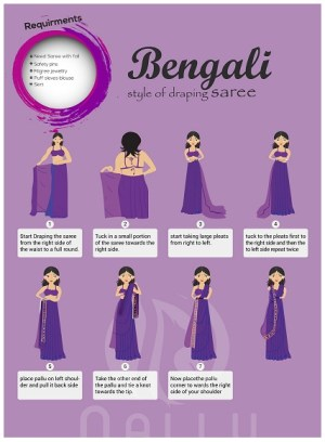 How To Wear A Saree in Bengali Style Easily | Styles At Life