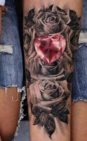 Roses And Diamonds Tattoo : roses, diamonds, tattoo, Brilliant, Diamond, Tattoo, Designs, Women, Styles